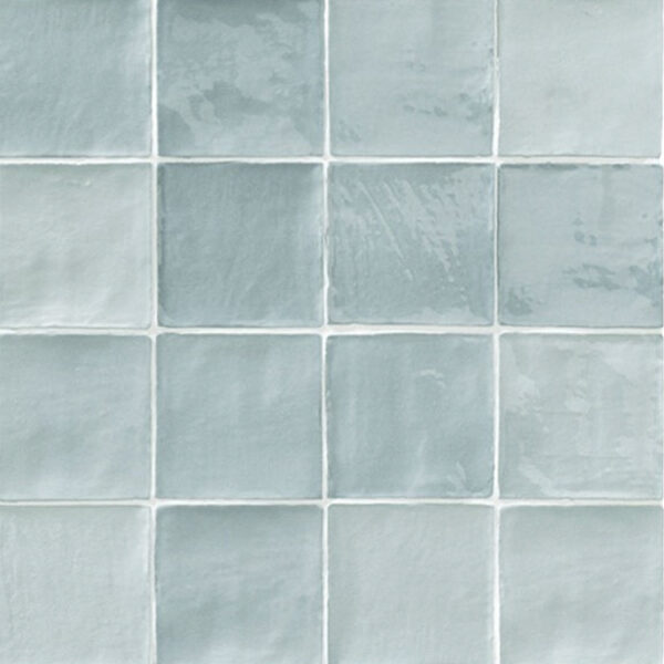 Handvorm Tegels 10x10 - Marokkaanse Zellige Natucer Stow Mix Lichtblauw
