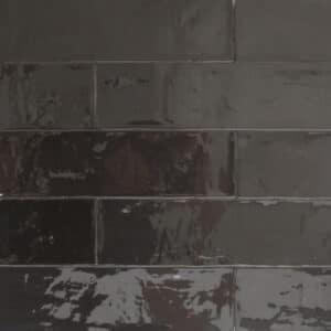 Handvorm Tegels 6,2x25 - Atelier Marokkaanse Zellige Antraciet Zwart
