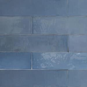 Handvorm Tegels 6,2x25 - Atelier Marokkaanse Zellige Blauw