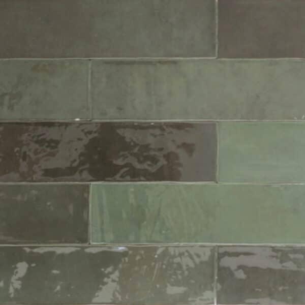 Handvorm Tegels 6,2x25 - Atelier Marokkaanse Zellige Groen