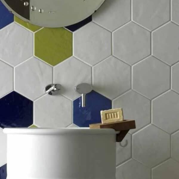 Hexagon Handvorm Tegels - Marokkaanse Zellige Tonalite Exabright Gebroken