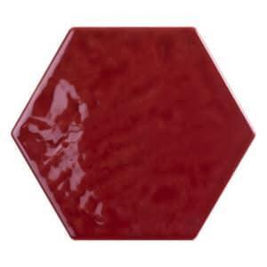 Hexagon Handvorm Tegels - Marokkaanse Zellige Tonalite Exabright Gebroken Bordeaux