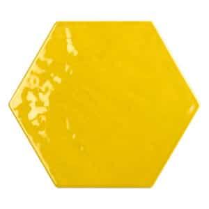 Hexagon Handvorm Tegels - Marokkaanse Zellige Tonalite Exabright Gebroken Geel