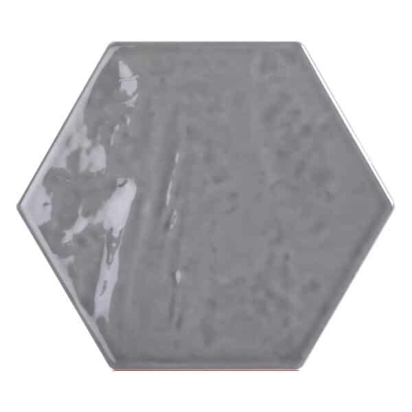 Hexagon Handvorm Tegels - Marokkaanse Zellige Tonalite Exabright Gebroken Grijs