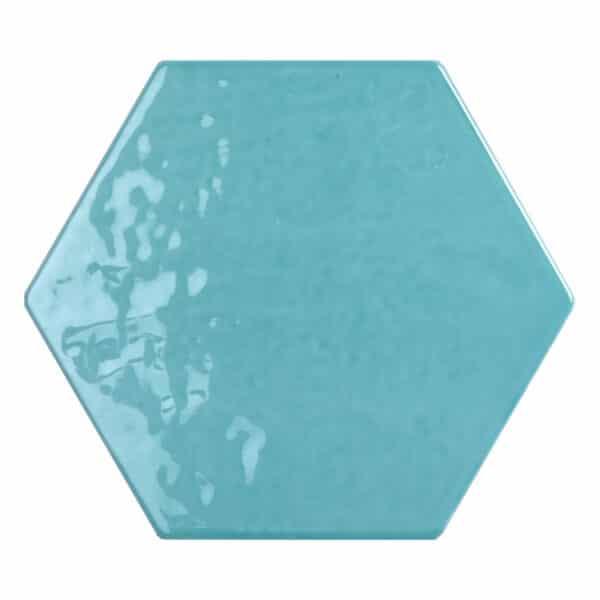 Hexagon Handvorm Tegels - Marokkaanse Zellige Tonalite Exabright Gebroken Lichtblauw