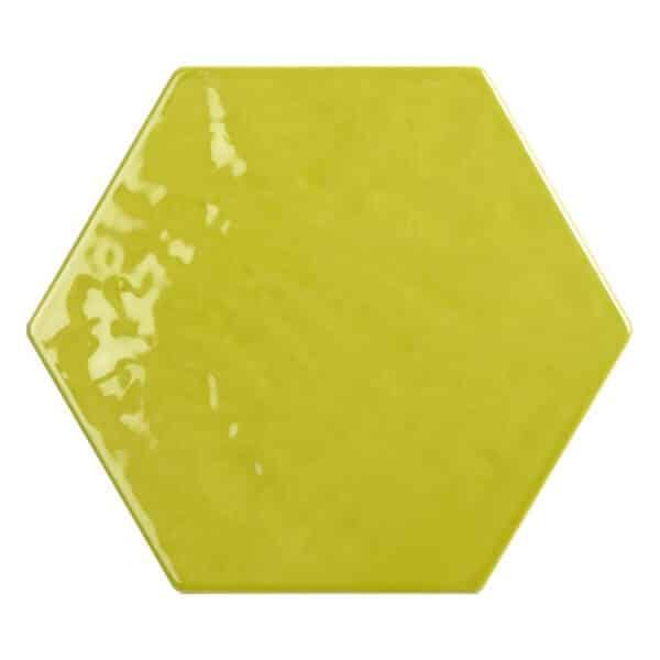 Hexagon Handvorm Tegels - Marokkaanse Zellige Tonalite Exabright Gebroken Lime