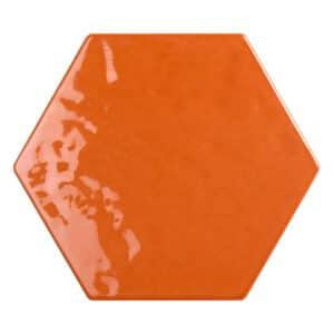 Hexagon Handvorm Tegels - Marokkaanse Zellige Tonalite Exabright Gebroken Oranje