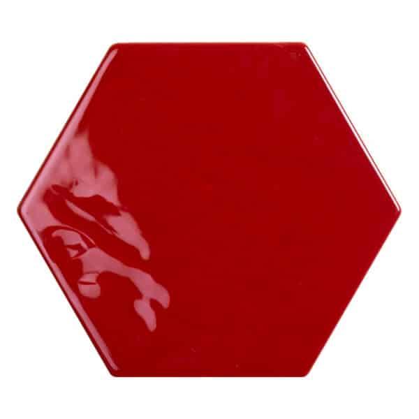 Hexagon Handvorm Tegels - Marokkaanse Zellige Tonalite Exabright Gebroken Rood