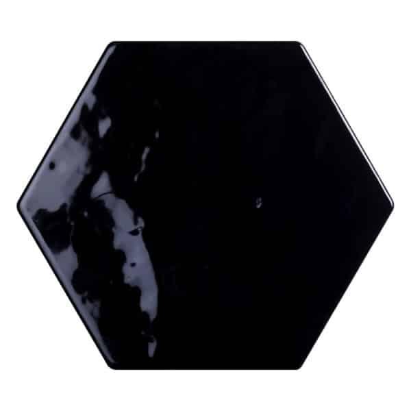 Hexagon Handvorm Tegels - Marokkaanse Zellige Tonalite Exabright Gebroken Zwart
