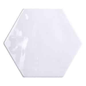 Hexagon Handvorm Tegels - Marokkaanse Zellige Tonalite Exabright Wit
