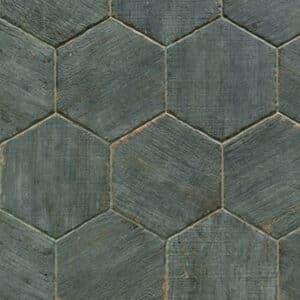 Antraciet Grijs Tegels.Hexagon Houtlook Tegels 36x41 5 Natucer Retro Antraciet Blauw Grijs