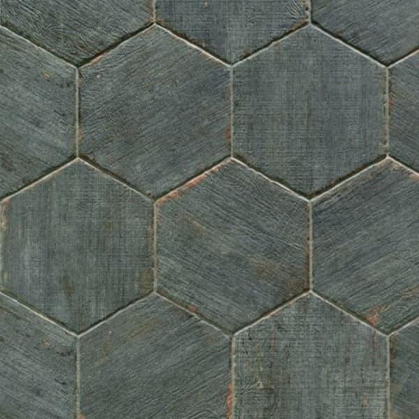 Hexagon Houtlook Tegels - Natucer Retro Blauw Grijs 1