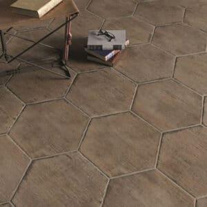 Hexagon Houtlook Tegels - Natucer Retro Bruin 1