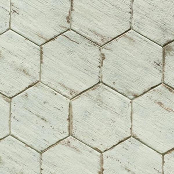 Hexagon Houtlook Tegels - Natucer Retro Wit 2
