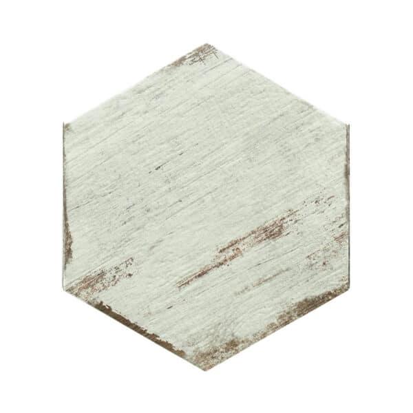 Hexagon Houtlook Tegels - Natucer Retro Wit