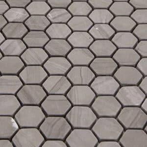 Hexagon Mozaïek 28x30 - Natuursteen Zeshoek Donkerbruin