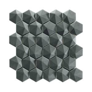 Hexagon Mozaïek 34,32,6 - Natucer 3D Zeshoek Antraciet