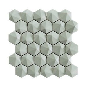 Hexagon Mozaïek 34,32,6 - Natucer 3D Zeshoek Grijs