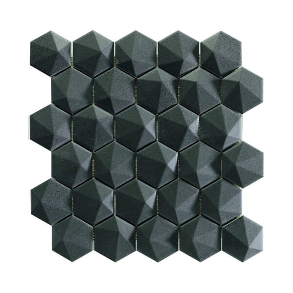Hexagon Mozaïek 34,32,6 - Natucer 3D Zeshoek Zwart