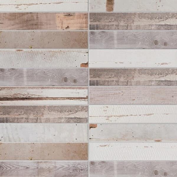 Houtlook Wandtegels 5x25 - Decor Porticciolo Multicolor Terra 1