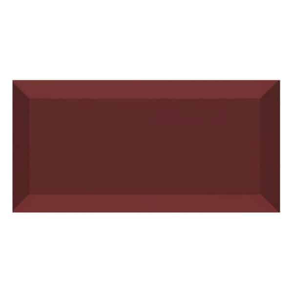Metro Tegels 7,5x15 - Heritage Facet Glans Bordeaux Donkerrood