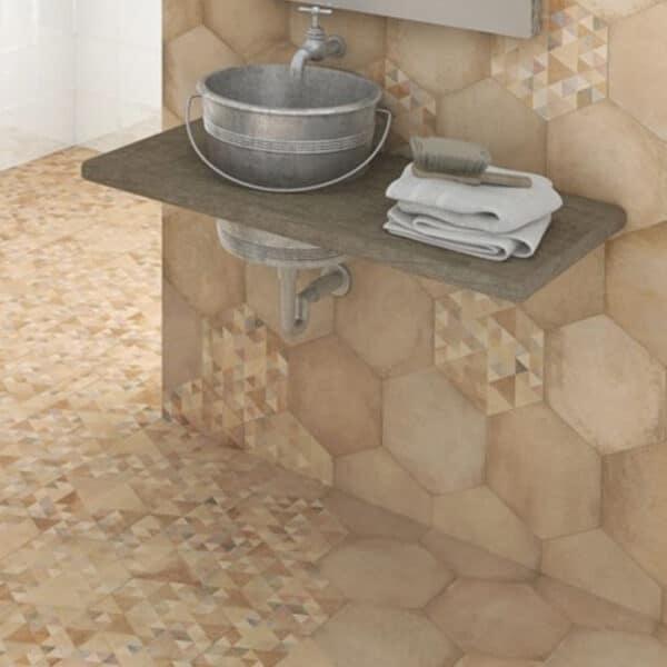 Portugese Hexagon Tegels 23x27 - Vives Laverton Patroon Tegels
