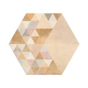 Portugese Hexagon Tegels 23x27 - Vives Laverton Patroon Tegels Beige 1