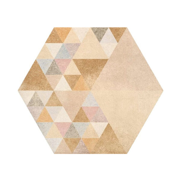 Portugese Hexagon Tegels 23x27 - Vives Laverton Patroon Tegels Beige 1
