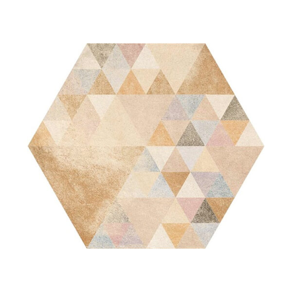 Portugese Hexagon Tegels 23x27 - Vives Laverton Patroon Tegels Beige 2