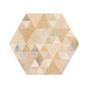 Portugese Hexagon Tegels 23x27 - Vives Laverton Patroon Tegels Beige