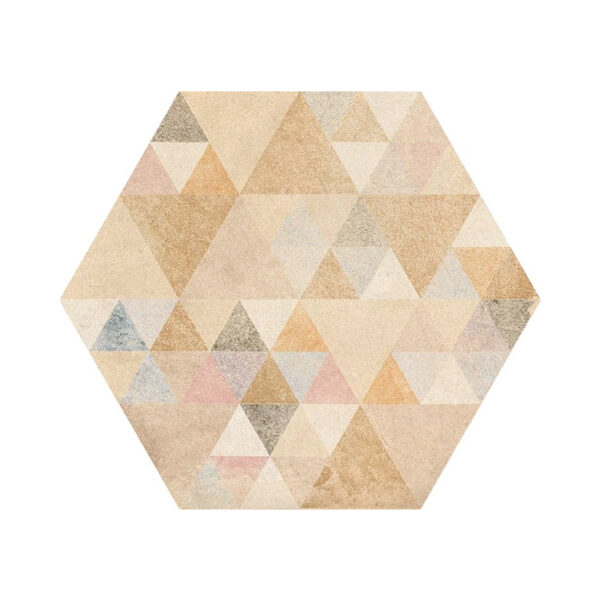 Portugese Hexagon Tegels 23x27 - Vives Laverton Patroon Tegels Beige