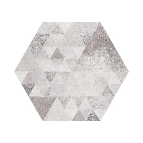 Portugese Hexagon Tegels 23x27 - Vives Laverton Patroon Tegels Grijs
