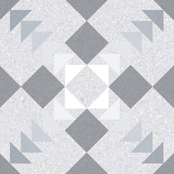 Portugese Tegels 20x20 - Patroon Tegels Vives Benaco Grijs 1
