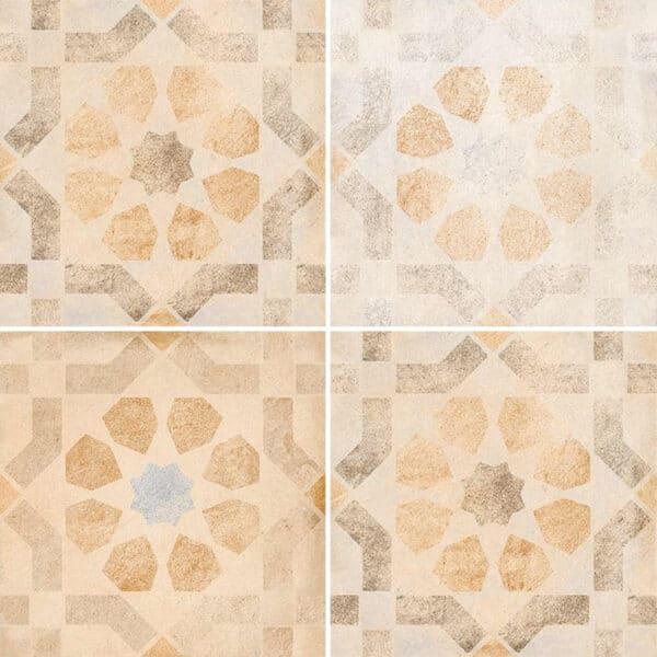 Portugese Tegels 30x30 - Vives Laverton Patroon Tegels Beige
