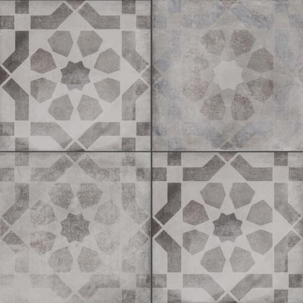 Portugese Tegels 30x30 - Vives Laverton Patroon Tegels Grijs