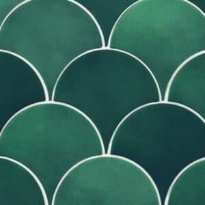 Schubben Tegels 13x7 - Natucer Squama Groen