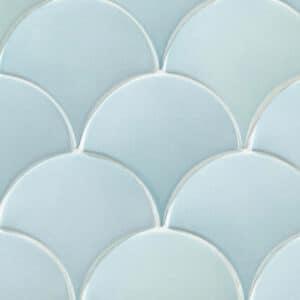 Schubben Tegels 13x7 - Natucer Squama Lichtblauw