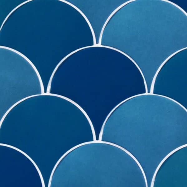 Schubben Tegels 13x7 - Natucer Squama Turqoise Blauw