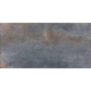 Metallook Vloertegel Wandtegel 120x60 Blauw Mat Nickel Blue
