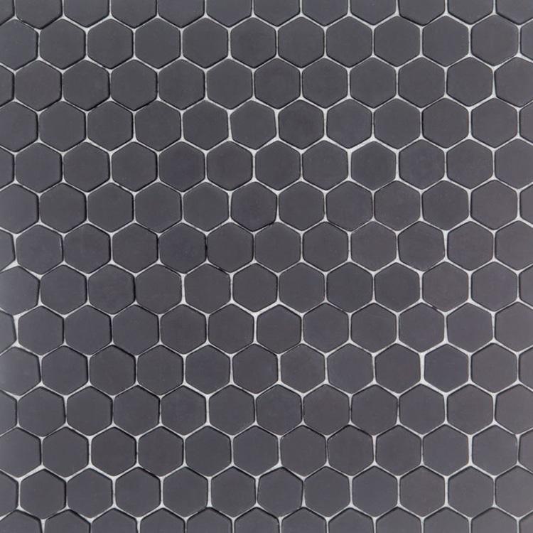 Antraciet Grijs Tegels.Glasmozaiek Zeshoek Hexagon Antraciet Zwart 28 7x29 7