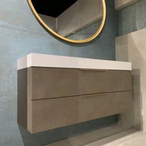 Metallook Tegels 120x60 - S50 Verderame Koper Groen Sfeer