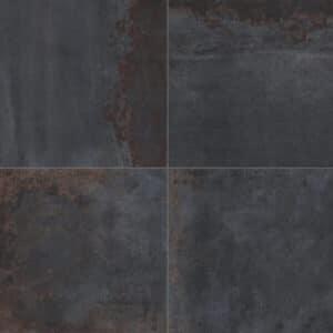 Metallook-Tegels-100x100-Metallo-Nero-Roestlook-Blauw-Bruin