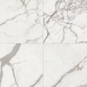 Marmerlook Tegels 60x60 ELLU Calacatta Gebroken Wit Grijs Mat