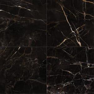 Marmerlook Tegels 60x60 ELLU Port Laurent Zwart Wit Mat