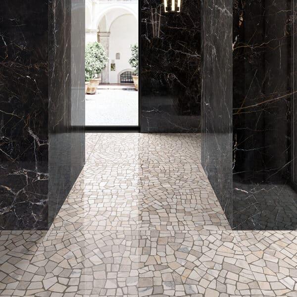Marmerlook Tegels 60x60 i4 Palladiana Light Mozaiek Hoogglans Sfeer