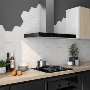 Hexagon Tegel 19,8x22,8 - Priss Matt Wit Mat Sfeer