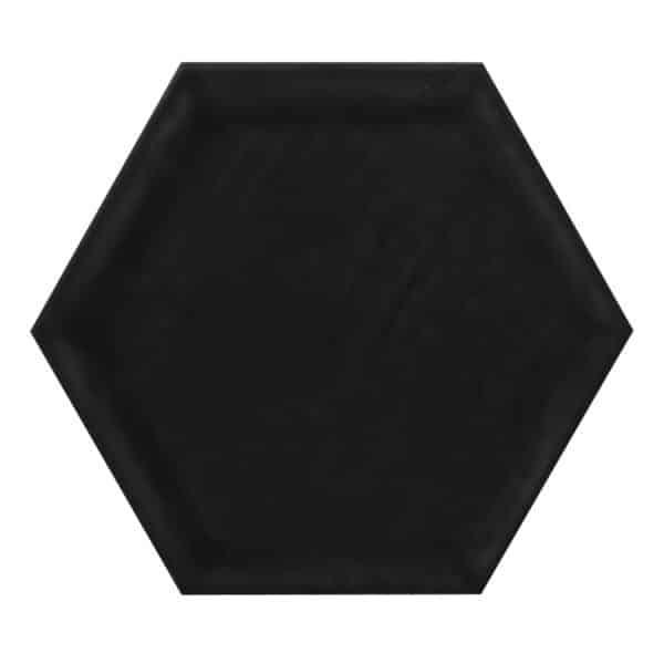 Hexagon Tegel 19,8x22,8 - Priss Shiny Zwart Glans