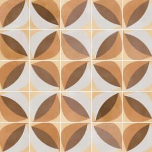 Portugese Tegels 29,3x29,3 - Pop Tile Afton Beige Bruin Patroon