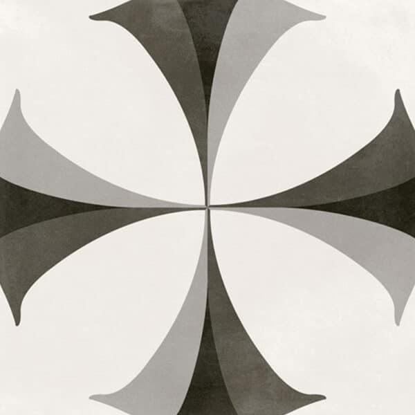 Portugese Tegels 29,3x29,3 - Pop Tile Flaps Zwart Wit