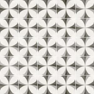 Portugese Tegels 29,3x29,3 - Pop Tile Flaps Zwart Wit Patroon